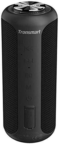 Waterproof Bluetooth Speaker, Tronsmart Upgraded Edition T6 Plus 40W Portable Outdoor Wireless Bluetooth Speaker 5.0 with Tri-Bass Effects, 6600mAh Powerbank, IPX6 Waterproof, 15H Playtime, TWS, NFC