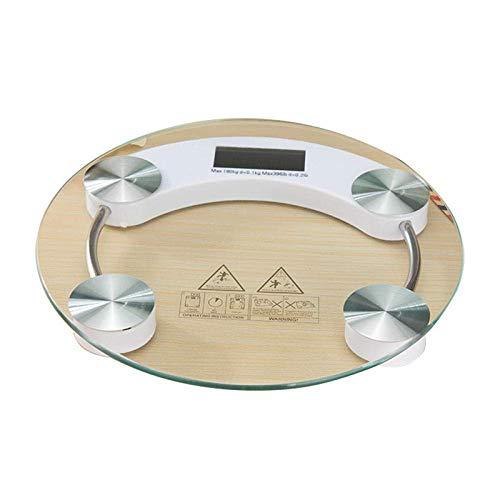 LQH Waage Waagen, LED Digitalanzeige, Gewicht mit einem Gewicht von elektronischer Smart Balance, Körper Haushalt Badezimmer, 180Kg, Transparent