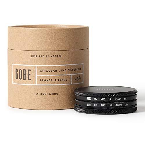 Gobe 49 mm UV Filter + Polfilter (CPL) - Filter Kit (2Peak)