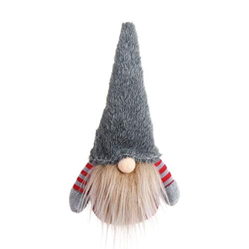 Amosfun Christmas Swedish Gnome Toys Xmas Tree Toppers Decor Ornament Gift (Grey)