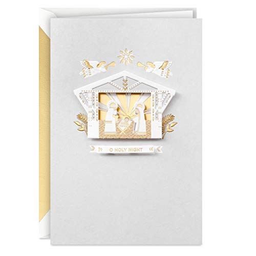 Hallmark Signature Boxed Christmas Cards, Gold Foil Nativity (12 Cards and Envelopes)