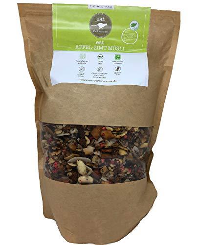 eat Performance® Apfel-Zimt Müsli (1000g) - Bio, Paleo, Vegan, Glutenfrei, Ohne Zuckerzusatz, Granola Aus 100% Natürlichen Zutaten