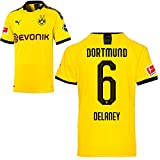 PUMA Borussia Dortmund BVB Heimtrikot 2019/20 Home Trikot Sponsor BL Logo Kinder Thomas Delaney 6 Gr 164