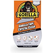 """Gorilla Crystal Clear Duct Tape, 1.88"""" x 9 yd, Clear"""