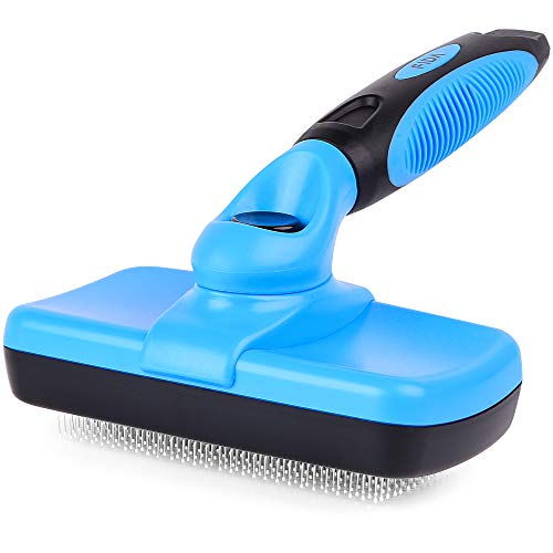 Fida Self Cleaning Slicker Brush with Protective Ball Tips, Dog Brush / Cat Brush for Shedding and...