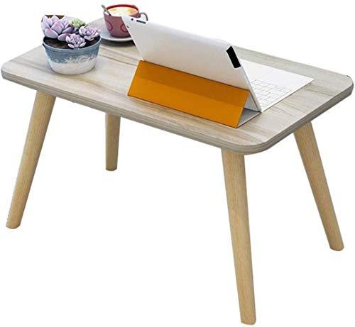 Comfortabele kleine salontafel vierkante houten tafel computertafel voor bed klein bureau rond