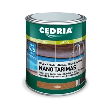 Lasur protector madera Cedria Nano Tarimas 4 litros Jatoba
