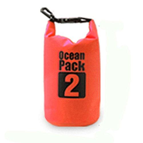 Bear Outdoor - Bolsa de lona impermeable de PVC 500D resistente para canotaje, kayak, senderismo, snowboard, camping, rafting, pesca y viajes de mochilero, Anaranjado