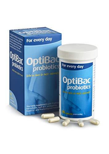 OptiBac for Every Day | Daily 5 Billion Friendly Bacteria Natural Supplement | Lactobacillus Acidophilus & Bifidobacterium Multi Strain Formula | Three Month Supply | 90 Capsules