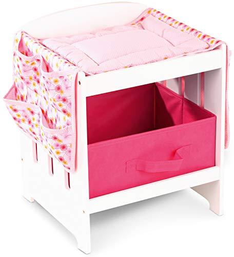 Götz 3402570 Puppen Wickeltisch - Puppenzubehör - 4-teiliges Set für Babypuppen zwischen 30 cm und 46 cm - geeignet für Kinder Aber 3 Jahren