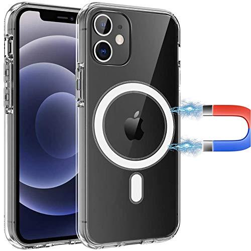 YOURSEa Funda Magnética Transparente Compatible con iPhone 7 Plus Magsafe Charger Funda de Silicona, Carcasa Delgada de TPU con Parte Posterior de PC [Anti Amarillo] Funda para iPhone 7 Plus