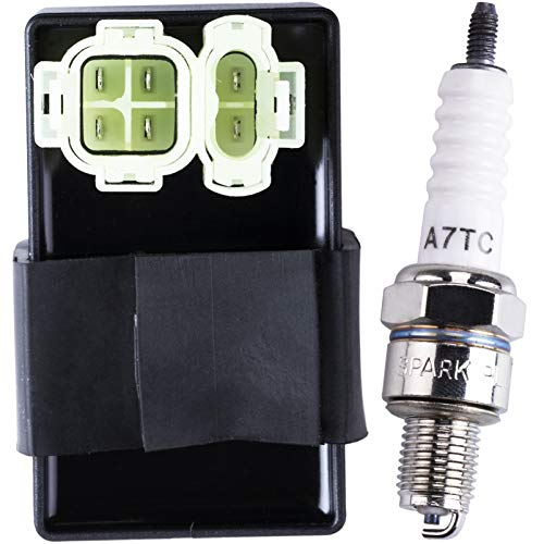 OTOHANS AUTOMOTIVE AC 6-pin CDI Box Module Spark plug Compatible with GY6 50cc 125cc 150cc ATV Go Kart Buggy Moped Scooter 4 Wheeler Quad Bikes Dirt Pit Bike