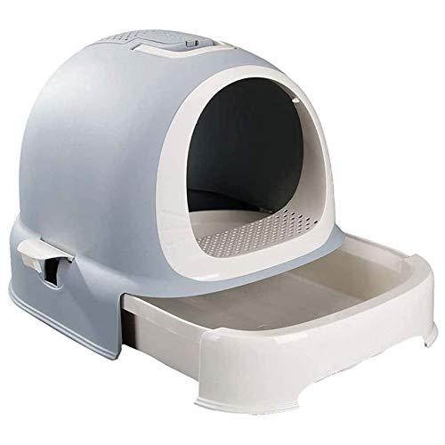 Litter Boxes Inodoro para Gatos Portátil, con Capucha Inodoro para Arena para Gatos Bandeja para Arena para Gatos Cubierta de Moda con Pala para Basura Bote de Basura Tipo Cajón Inodoro para Gatos