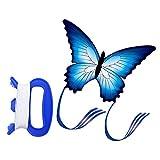 OhhGo Azul Mariposa Forma Cometa Al Aire Libre Volar Cometas Niños Niños Diversión Juguete Deportes
