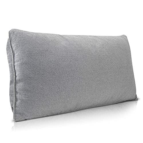 Sofakissen Groß Grau Bequem als Rückenkissen - Sofakissen mit Füllung und Bezug mit Hochwertiger Oeko-TEX Qualität - Dekokissen mit Füllung Waschbar - Couch Kissen