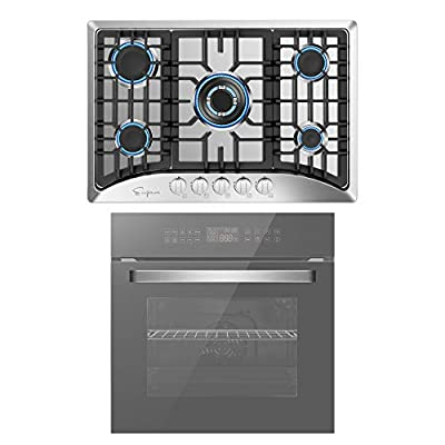 Empava 24 Inch Single Wall Oven and Electric Stove Induction Cooktop