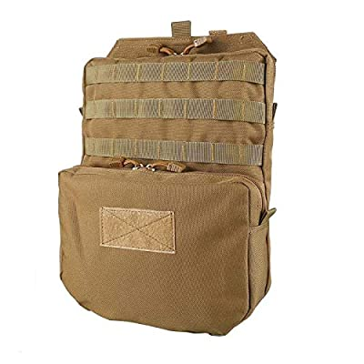 Livans Tactical Molle Hydration Pack, Mobility Hydration Carrier Backpack Water Bladder Molle Vest Accessory for Hiking, Biking, Climbing (Bladder is not Included)