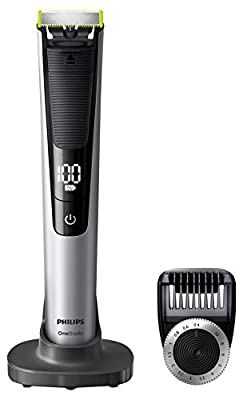 Philips OneBlade Pro Hybrid Trimmer & Shaver with 14-Length Comb (UK 2-Pin Bathroom Plug) - Frustration-Free-Packaging - QP6520/30 from Philips