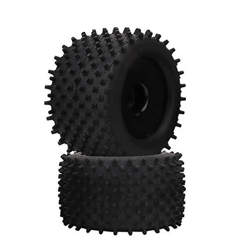 Alomejor 155mm Neumático de Goma 82mm Piezas de actualización de Rueda de Cubo para camión 1/8 RC Racing Car