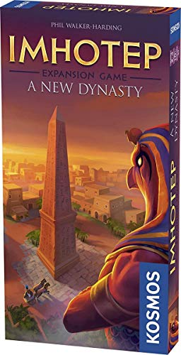 Thames & Kosmos 694067 Pack Imhotep: Una Nueva dinastía (expansión)   La construcción de los monumentos continúa.   Juego Familiar estratégico, 2-4 Jugadores   Edades 10+  