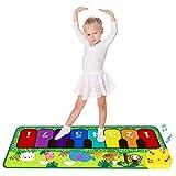 M SANMERSEN Music Mat for Kids, Keyboard Play Mat Musical Dance Mat with 5 Animal Sounds Touch Play Mat for Kids Boys Girls