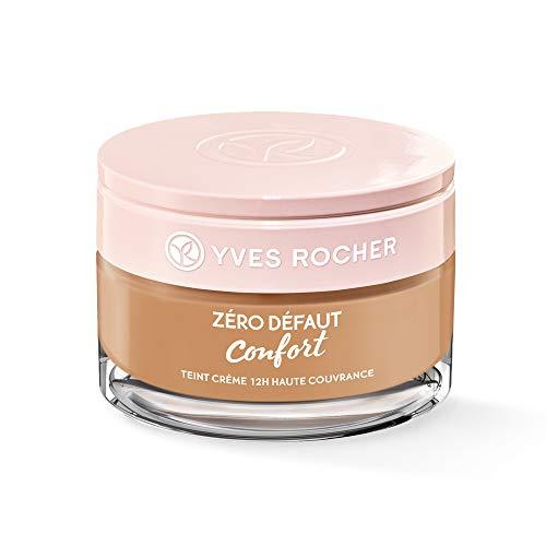 Yves Rocher COULEURS NATURE Creme-Make-up 12h hohe Deckkraft Beige 300, reichhaltige Foundation, 1 x Glas-Tiegel 40 ml