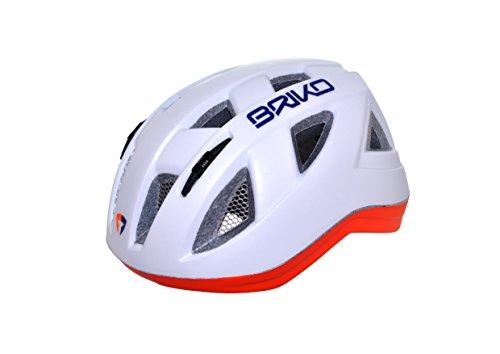 Briko-Casco da ciclismo per bambini, taglia S, colore: bianco