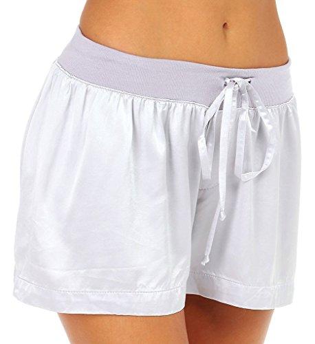 PJ Harlow Women's Mikel Satin Boxer Short, Lavender, Large
