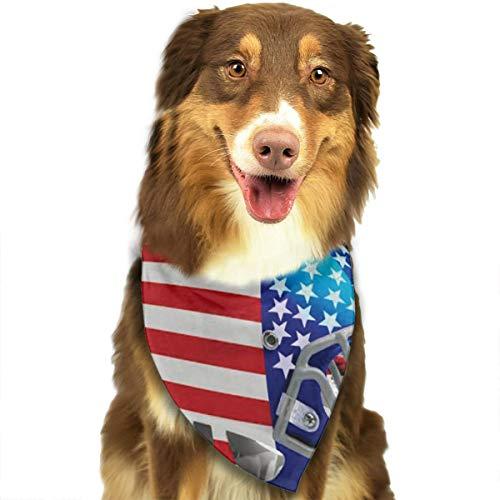N/B Helm Vlag Dag (VS) Aangepaste Hond Hoofddoek Heldere Gekleurde Sjaals Leuke Driehoek Bibs Accessoires Voor Huisdier Honden