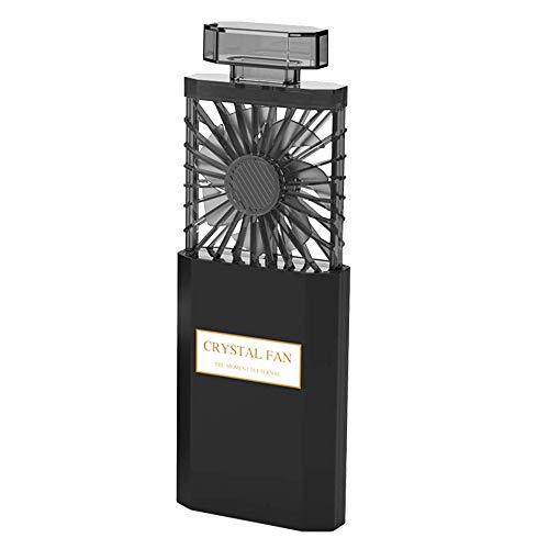SODIAL Ventilador de Mano de Dama,Ventilador Personal Peque?O Recargable con Ajuste 3 Velocidades,Ventilador PortáTil ExtraíBle, Ventilador de Escritorio de Enfriamiento EléCtrico