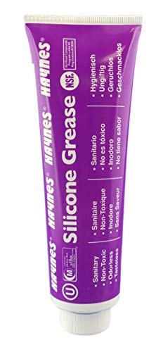 Haynes Silicone Grease, Food Grade Sanitary Lubricant, Machine Lube, Prevent Valves and O-Rings from Sticking, 1-4oz Tube Silicone Grease