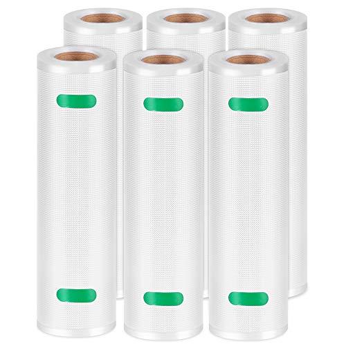 Kootek Vacuum Sealer Bags 6 Rolls 11 x 20 Vacuum Seal Food Storage Bags for Food Saver Durable Commercial Grade Bag Heavy Duty for Sous Vide Package Total 120ft