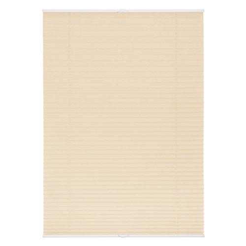 Lichtblick Plissee Klemmfix ohne Bohren, 45 cm x 130 cm (B x L) in Creme, Sicht- und Sonnenschutz, lichtdurchlässig & Blickdicht