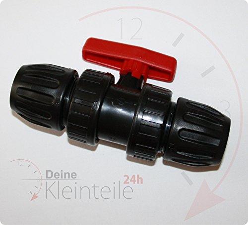 Deine-Kleinteile-24 25mm-25mm PE Kugelhahn Rohr Kunststoff DVGW Klemmfitting Verschraubung Muffe Verbinder