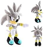 ZEWAN 11'/ 28cm Sonic Hedgehog Movies & TV Game Peluche Figura Muñeca, Sonic The Hedgehog Plush Amy Rose Un Regalo para su Hijo (Gris-30cm)