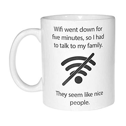 N/ A WiFi-Zitat-lustige Kaffee-oder Tee-Tasse - Aussenseiter-und Computer-Sonderlings-Geschenk-Keramik-Tasse