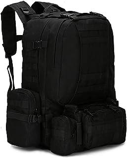 Dengyujiaasj Backpack, 25-50L Tactical Backpacks, Men's Backpack Hiking Trekking Backpack Travel Sport Bag Outside Climbin...