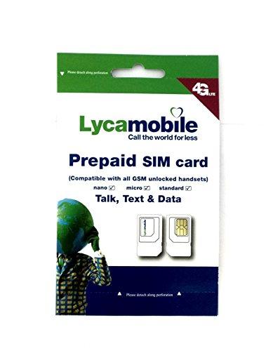 Tarjeta SIM para los Estados Unidos & Puerto Rico (Tel/SMS/datos) - Nano SIM - Prepaid Americanas tarjeta SIM