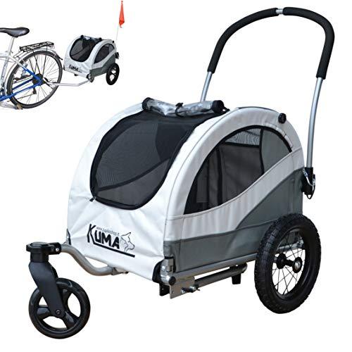 Papilioshop Kuma Remolque de Bicicleta y Carrito para Perro pequeño Mascotas (Gris)