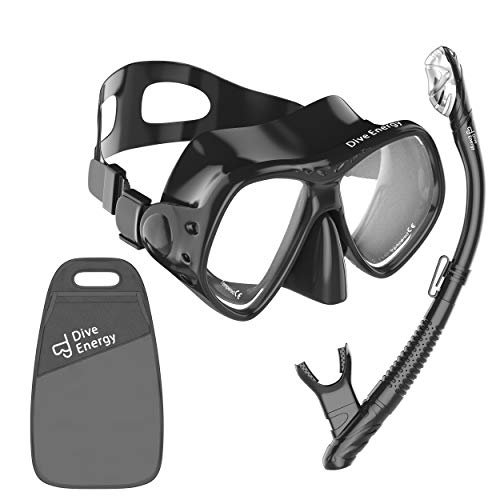 2020 Snorkel Set - Anti-Fogging, Tempered Glass Snorkel Mask - Clear View Scuba Diving up to 50 m - Easy Breathing - No Leaks Snorkel Kit + Carry Bag