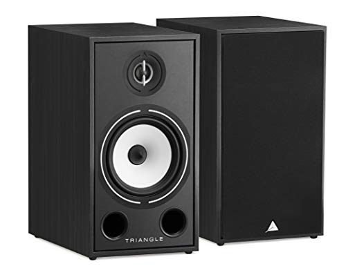 Best Price! triangle HiFi Bookshelf Speakers - Borea BR03, Black Ash, Pair