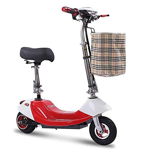 Dpliu-HW Bicicleta Eléctrica Plegable Coche eléctrico Adulto Scooter eléctrico Señoras Bicicleta eléctrica...