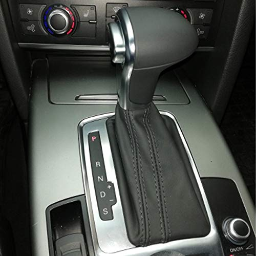 LSJVFK Cambiador de Palanca de Palanca de Cambio de Engranaje de Coche automático de Cuero con Funda de Maleta, Apto para Audi A4 A5 A6 Q5 Q7 B8
