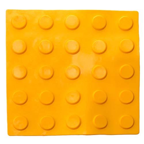 primematik–mattonella in podotáctil pavimento Touch ciechi ciechi di 25x 25cm cerchi di Arresto Giallo 10-pack (bt095)