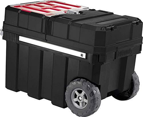 Keter 17191709 gereedschapswagen Master Pro Serie Masterloader, kunststof, zwart/geel