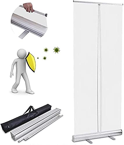 qwert Roll Up Spit Protector Nieservice, Transparent Roll Banner Pared Protectora, Separador De Partition Partition Partition Separador De Protección para Tos,47x80in(120x200cm)