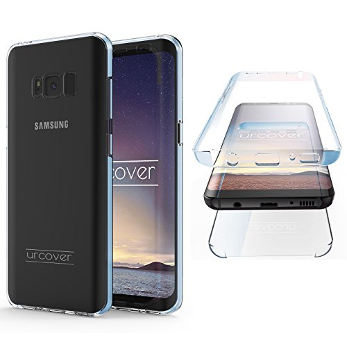 "Urcover Kompatibel mit Samsung Galaxy S8 ""Touch Case 2.0"" [Upgrade Juni 2017] 360 Grad Rundum-Schutz Full Cover [Unbreakable Case bekannt aus Galileo] Crystal Clear Full Body Case - Blau"