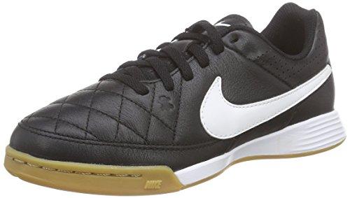 Nike Unisex-Kinder Tiempo Genio Leather IC Fußballschuhe, Schwarz (Black/White-Black 010), 28 EU