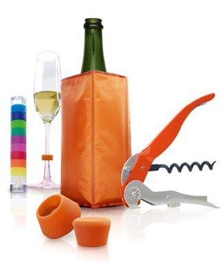Pulltex Set de 5 Accessoires pour Le vin Orange