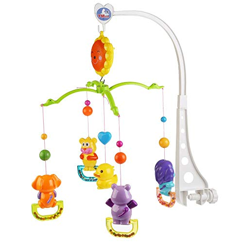 Review Simbat Infant Crib Play Set Hanging Toys Carrousel Crib Rattle 9.8 x 9.8 x 9.8-inch Baby Toy